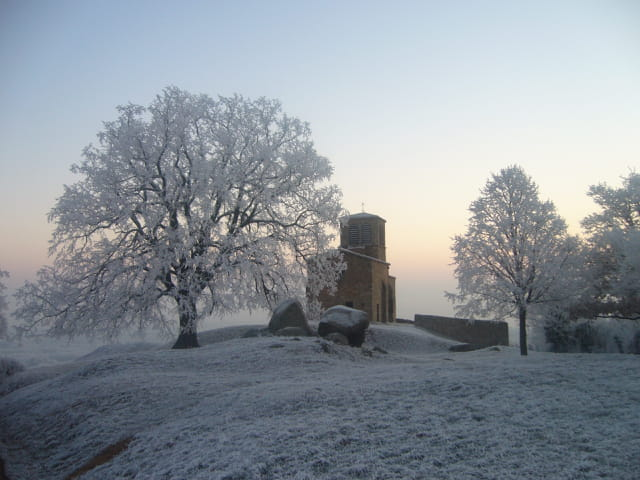 La chapelle au petit matin ... l'hiver