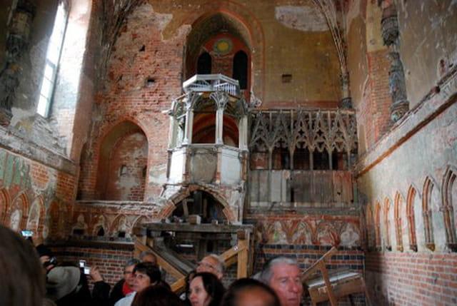 la chapelle bombardée pendant la 2° guerre mondiale