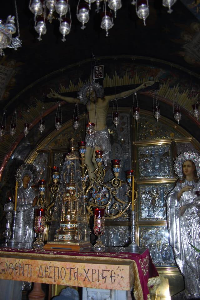 la chapelle grecque orthodoxe de l'église du Saint Sépulcre