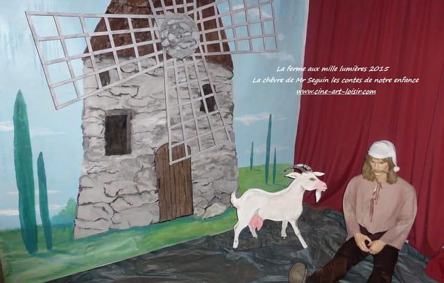 La chèvre de Mr Seguin les contes de notre enfance  à la ferme aux mille lumières 2015