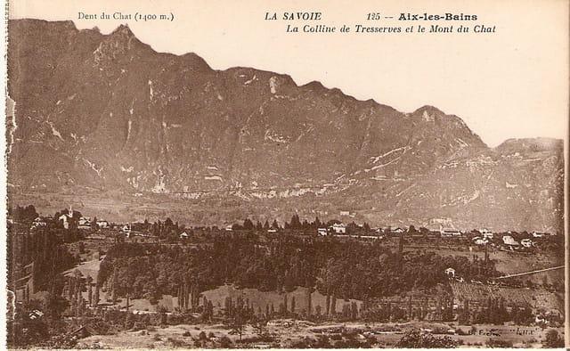 La colline de tresserves et le mont du Chat