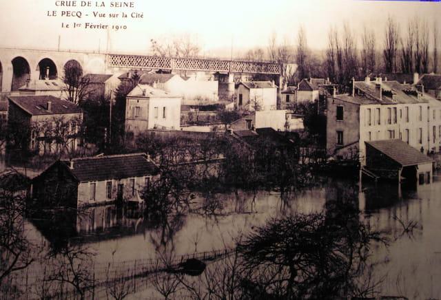 La crue de 1910 au pecq
