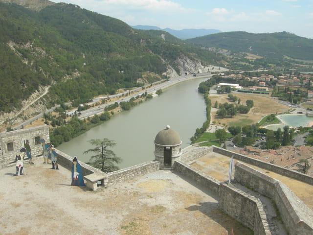 La Durance vue d'en haut de la citadelle