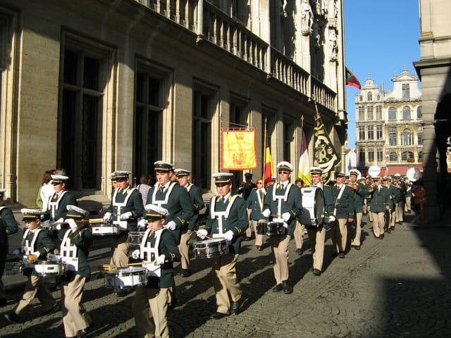 La fanfare de Moulbaix à Bruxelles