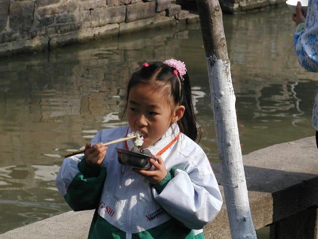 La fillette au riz