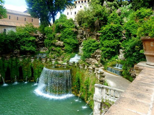 la fontaine d'Ovatto de la villa d'Este