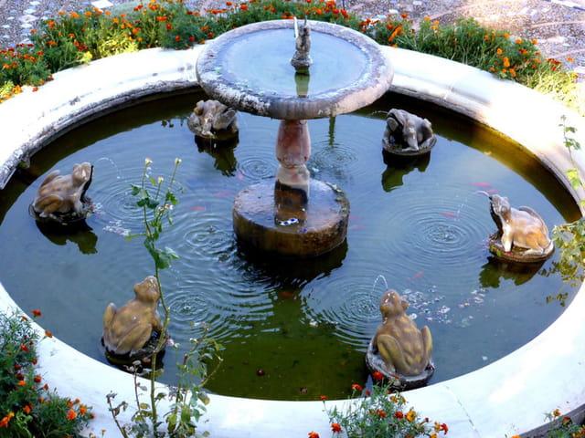 La fontaine de la casa Don Bosco à Ronda