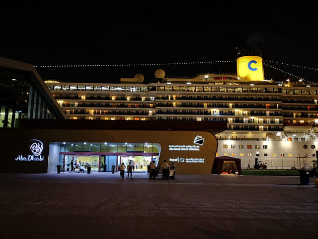 la gare maritime d'Abu Dhabi