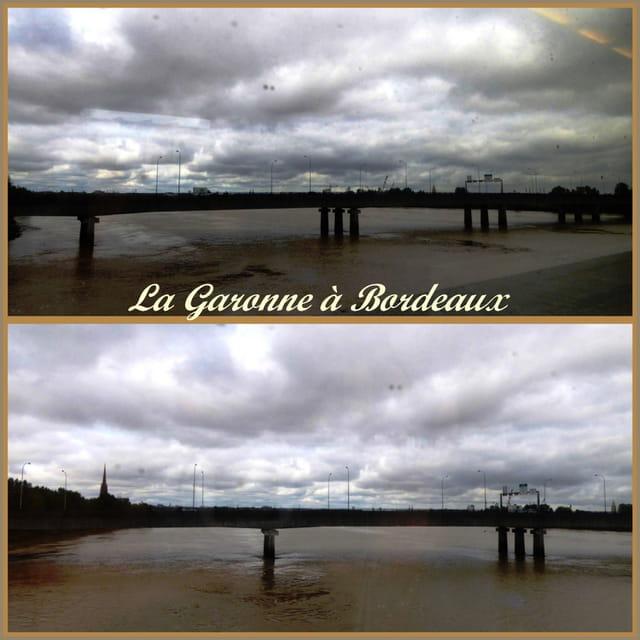 La Garonne à Bordeaux sous un ciel tourmenté