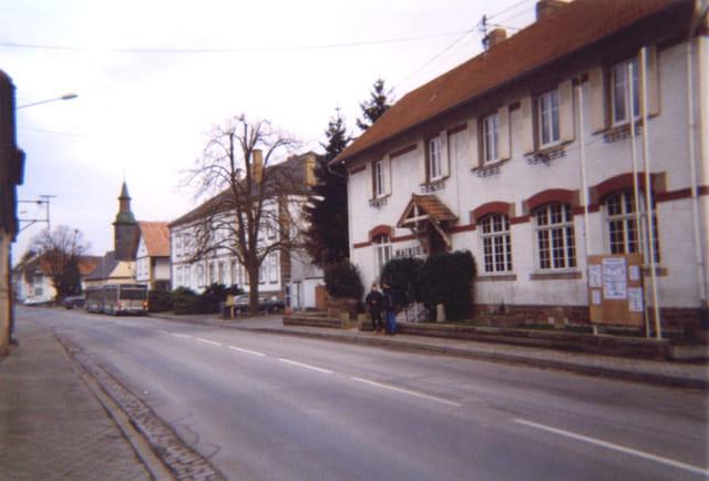 la mairie de Mittelhausbergen, l'imposante Ferme Lobstein, l'Eglise Saint Jacques
