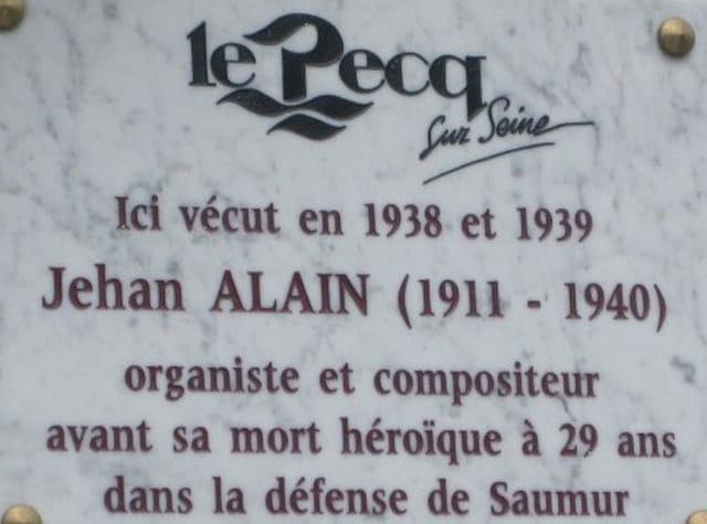 La maison de Jehan Alain au Pecq