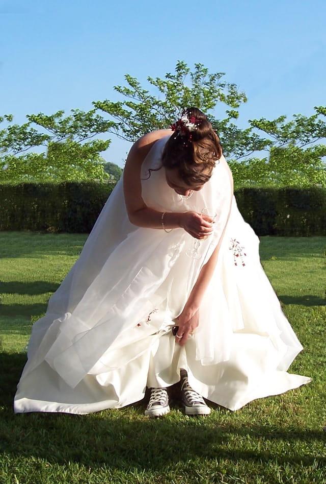 La mariée était en baskets