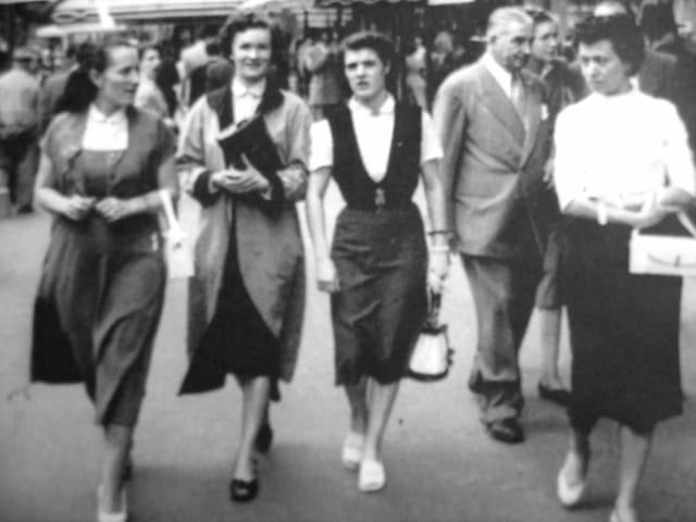 La mode à paris 1956