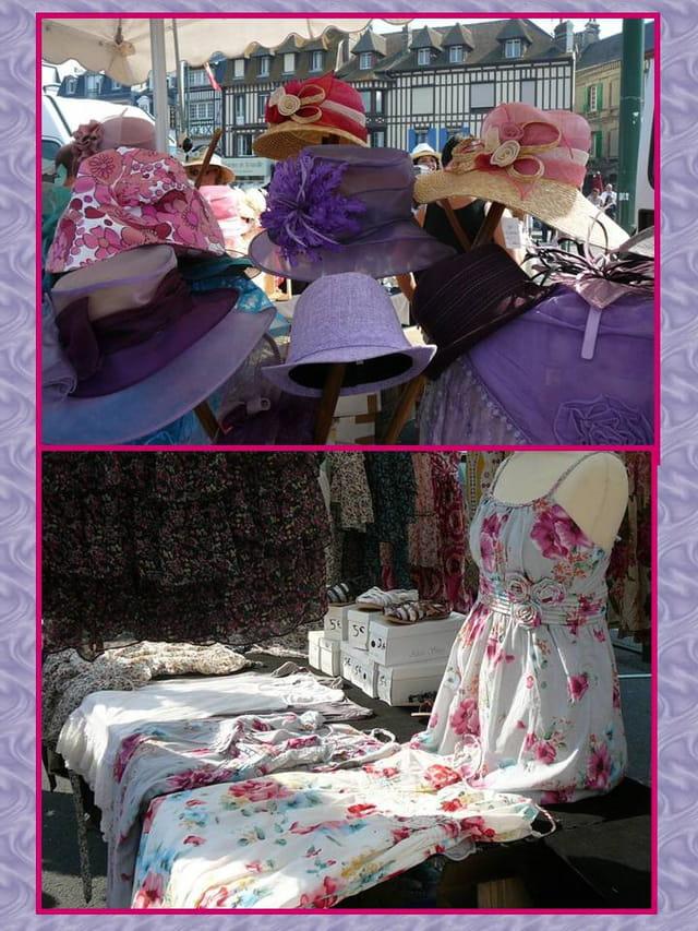 La mode sur le marché de Trouville sur Mer