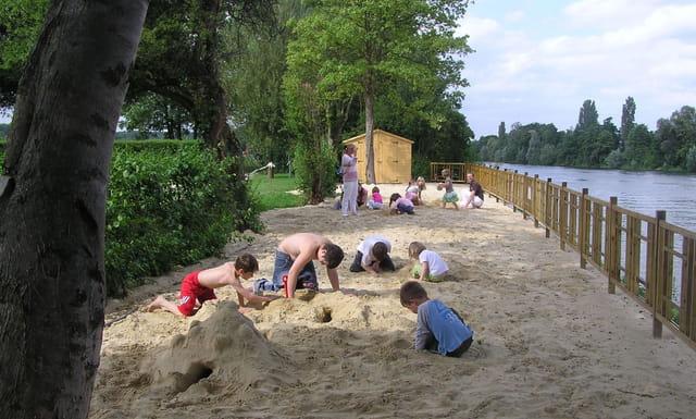 La nouvelle plage du Parc Corbière