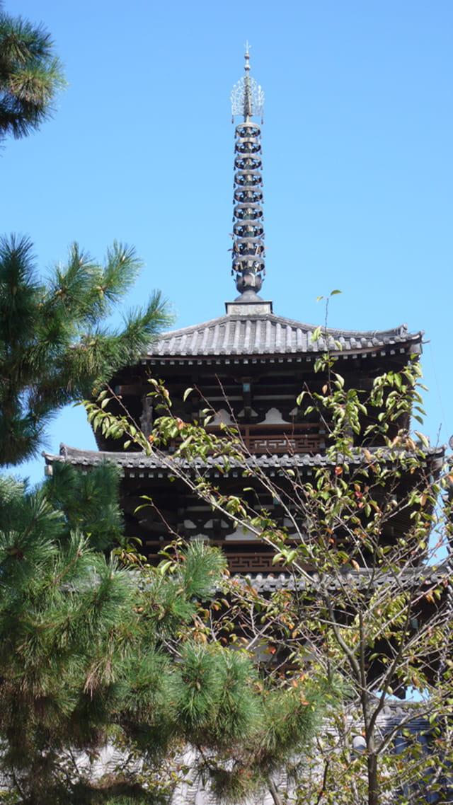 La pagode à trois étages du Yakushi-ji
