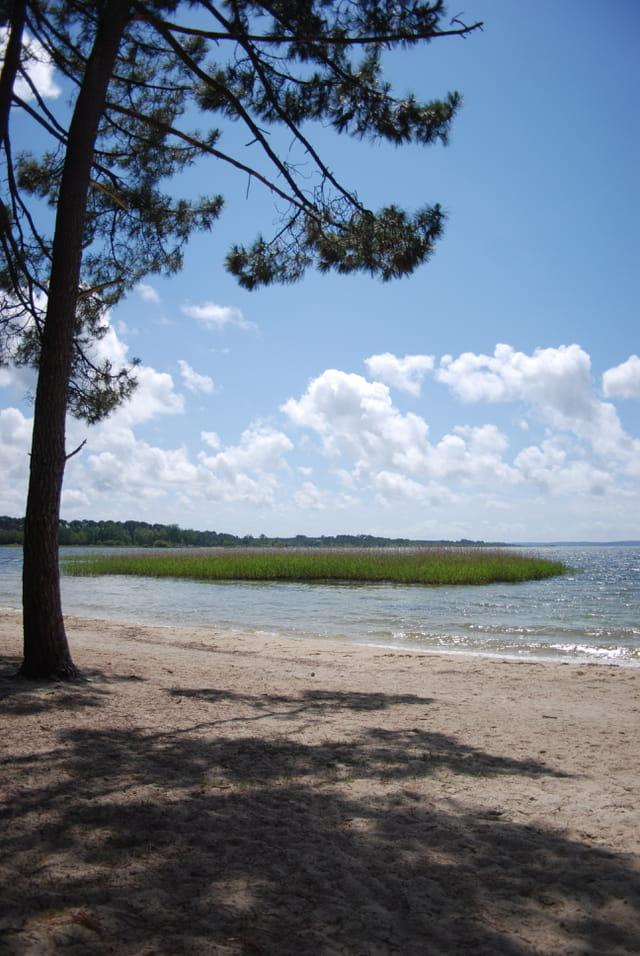 la plage Caton au bord du lac de Sanguinett