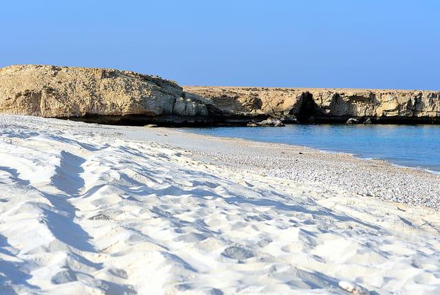 La plage de sable blanc de Fins