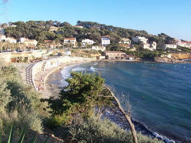 La plage de Sanary-sur-Mer