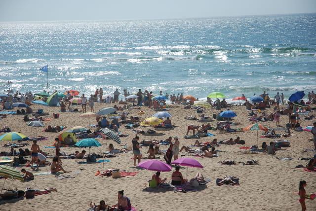 la plage de Vieux Boucau en juillet