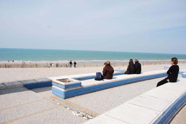 La plage en avril