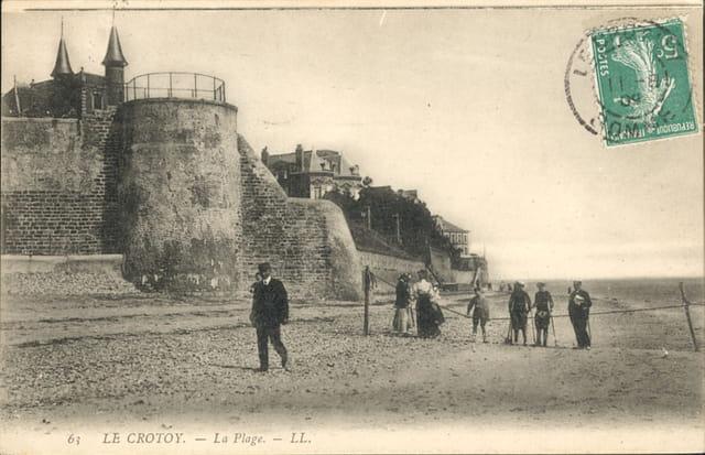 La plage et la butte du moulin