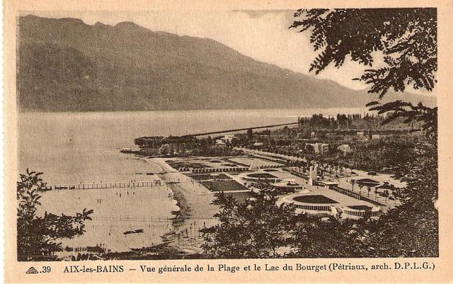 La plage et le lac, vue générale