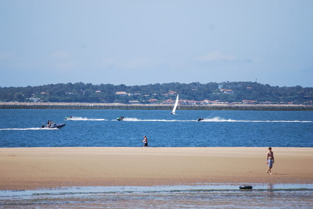 La plage Péreire à marée basse
