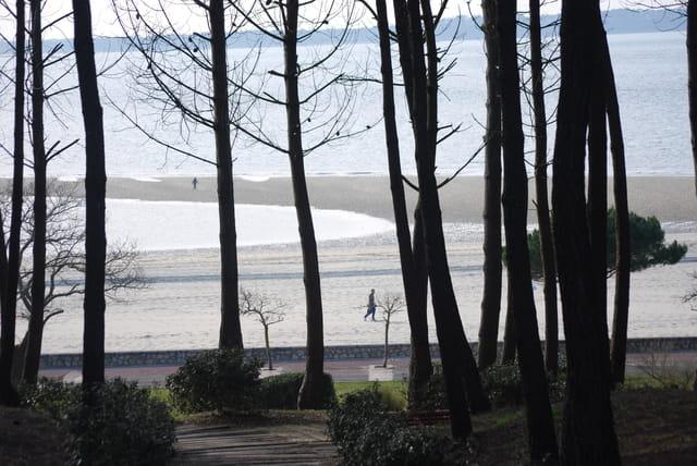 la plage Péreire au mois de mars
