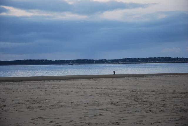 la plage Péreire en hiver