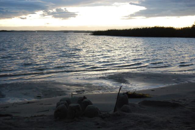 la plage un soir de septembre