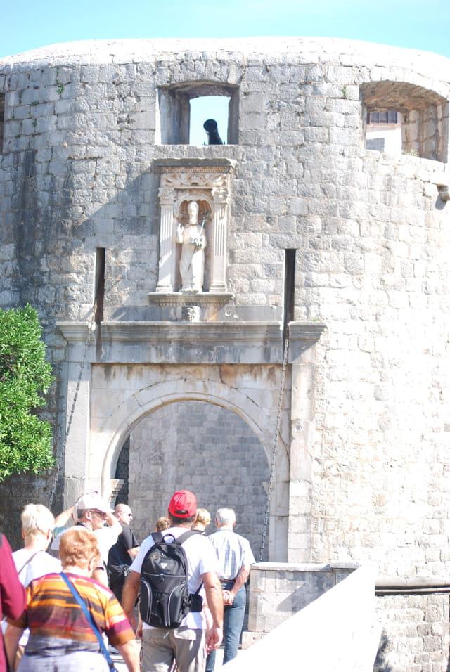la porte d'entrée de Dubrovnik
