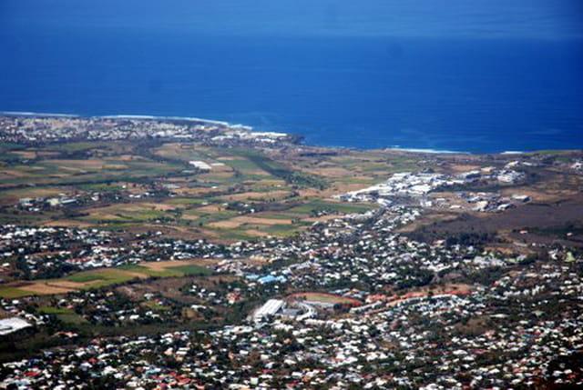 la Réunion vue d'en haut