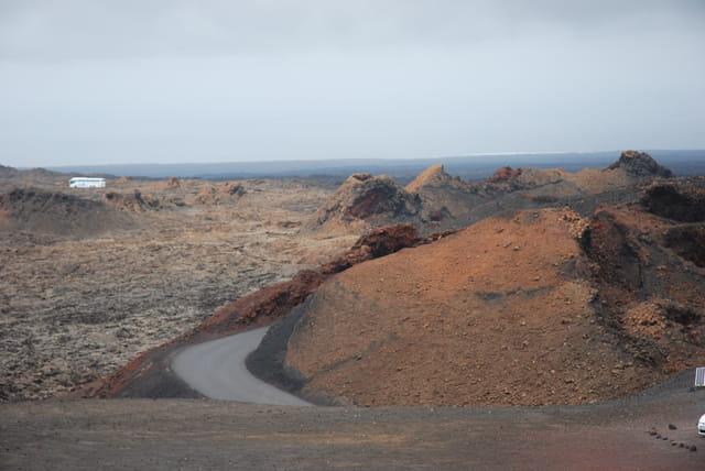 la route des volcans à Lanzarote