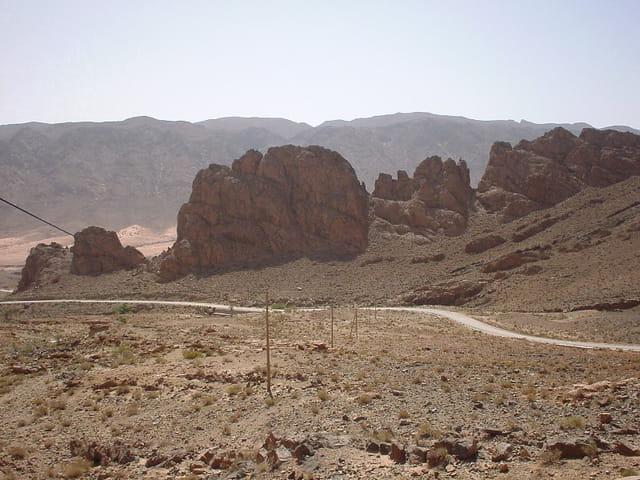 La route vers hammam warka