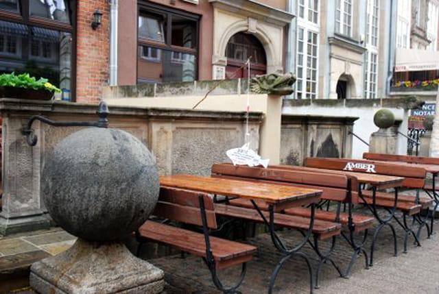 la rue Mariacka et ses gargouilles