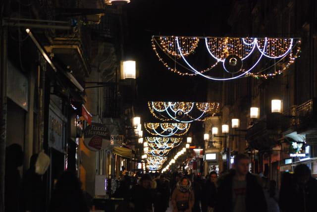 la rue Sainte Catherine à Noël