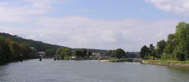 La Seine en amont de Bougival