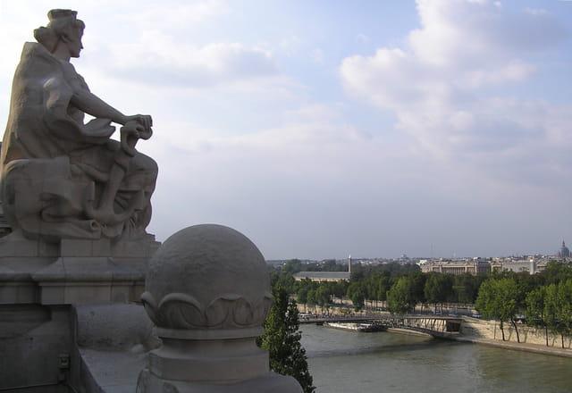 La Seine en amont de la Passerelle Solferino