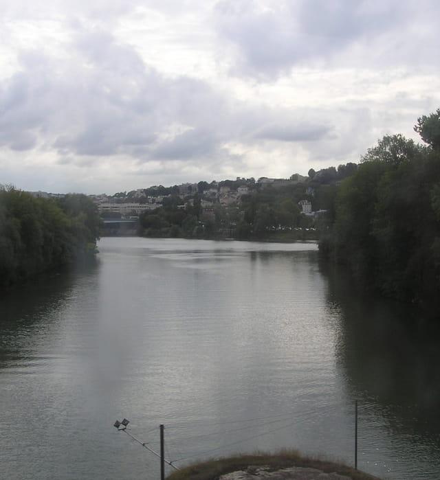 La Seine vue du viaduc du RER