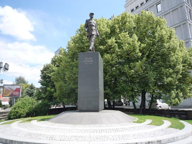 La statue du général Charles de Gaulle