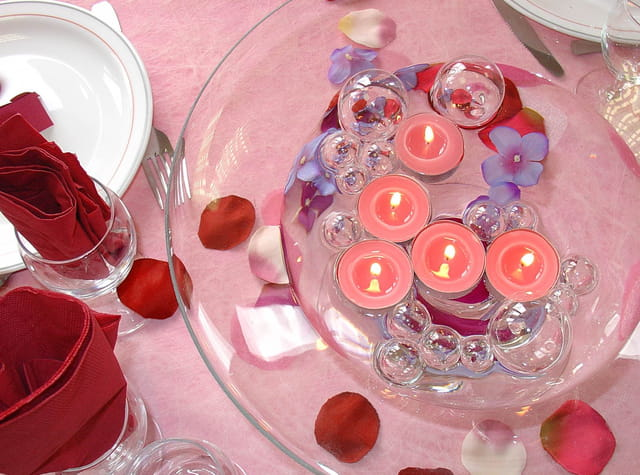 La table rose