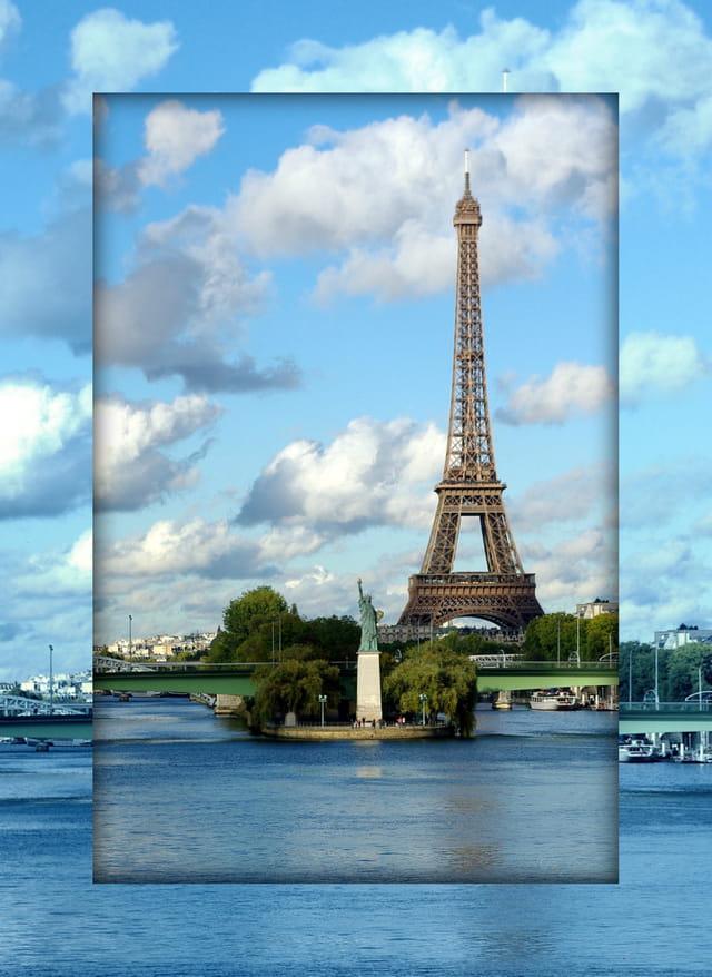 La Tour EIFFEL et la statue de la Liberté