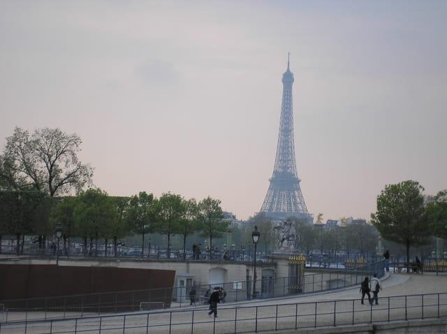 La tour eiffel vue du jardin des Tuileries