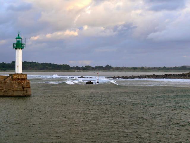 La vague à marée montante