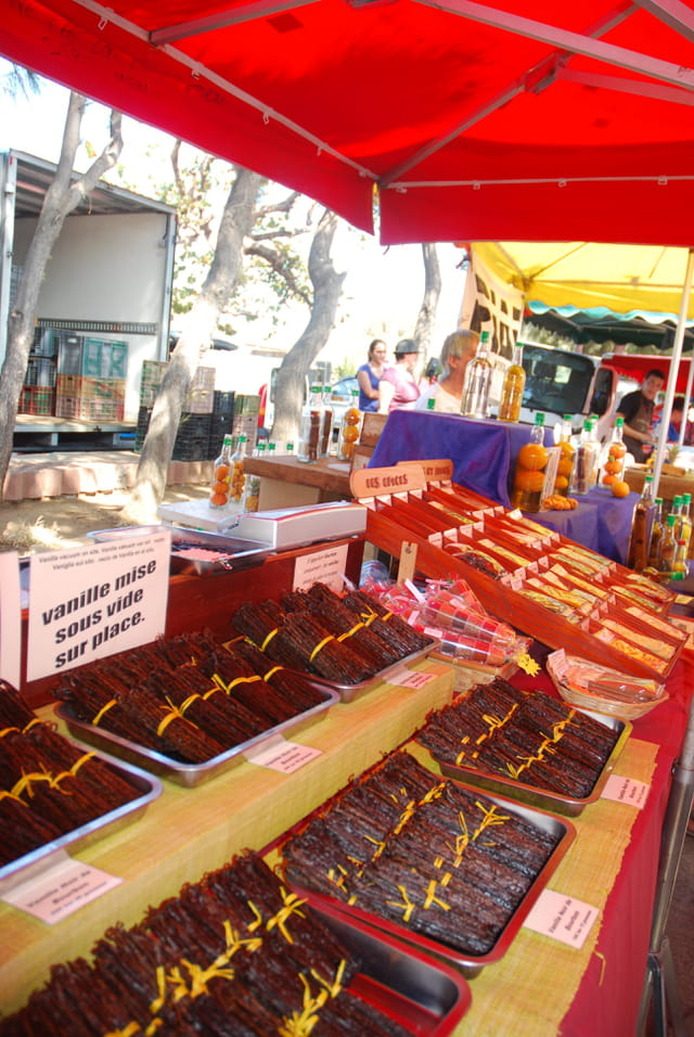 la vanille sur le marché de Saint Paul