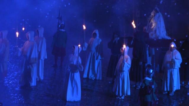 La Vierge Noire et les moines