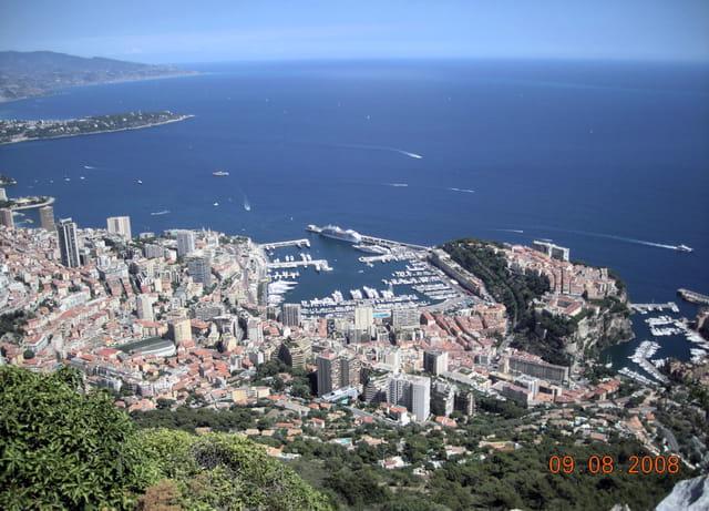 La ville de Monaco vue d'en haut
