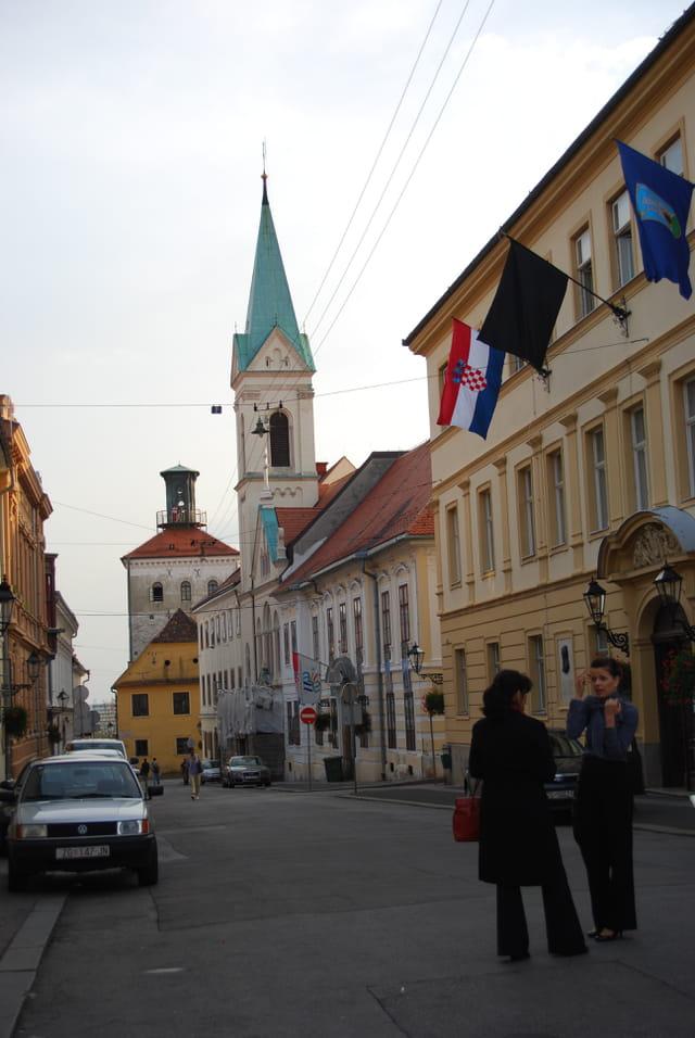 la ville haute de Zagreb