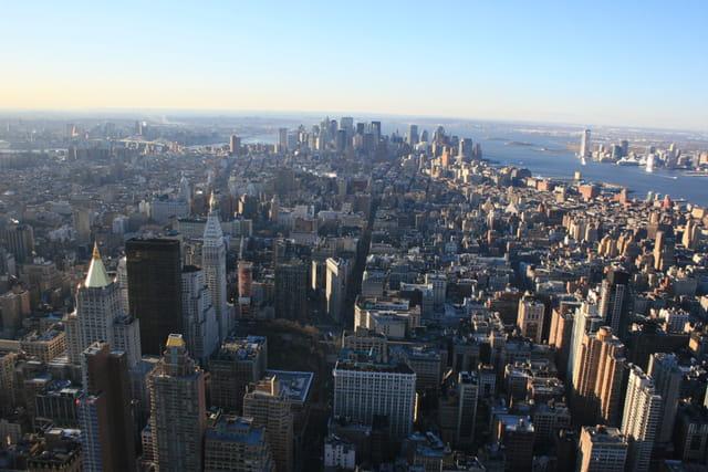 La ville vue du haut de l'Empire State Building